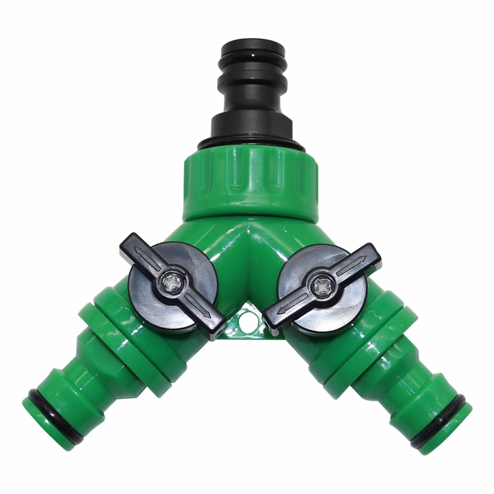 """HTB1a71phcbI8KJjy1zdq6ze1VXaF 1set 3/4""""Female Thread Y Shape Connector With 3/4""""Male Thread Tap Nipple Joint Quick Coupling Drip Garden Irrigation System tool"""