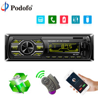 Podofo Car Radio 3 MP3 Bluetooth Player 12V FM AUX USB 1 Din Car Stereo Autoradio With Wireless Steering Wheel Remote Control