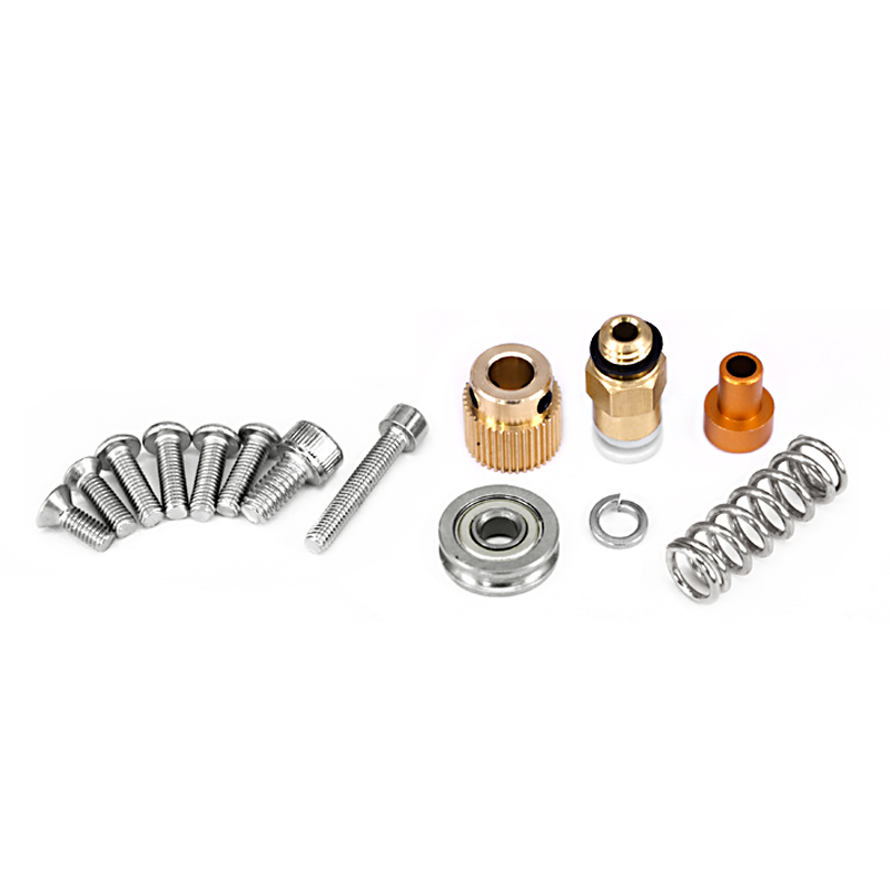 Image 5 - 15Pcs/Set 3D Printer Extruder Cr10 Extruder Remote Extruded Metal Block Oxidized Sandblasting Fittings-in 3D Printer Parts & Accessories from Computer & Office