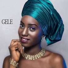 Queency Африканские Сего геле дамы Sego головной убор и Ipele 2 шт./упак. многоцветные DHL SEGO142