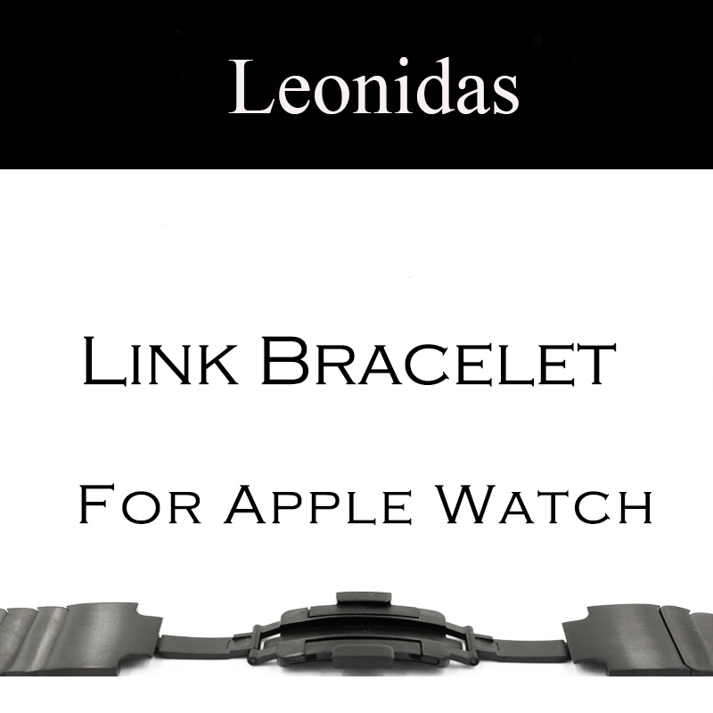 LEONIDAS Stainless Steel Link Bracelet Band for Apple Watch Series 3 2 1 Strap for iWatch adjustable Stainless Steel Band link bracelet stainless steel watch band for apple watch band series 3 2 1 strap for iwatch adjustable high quality