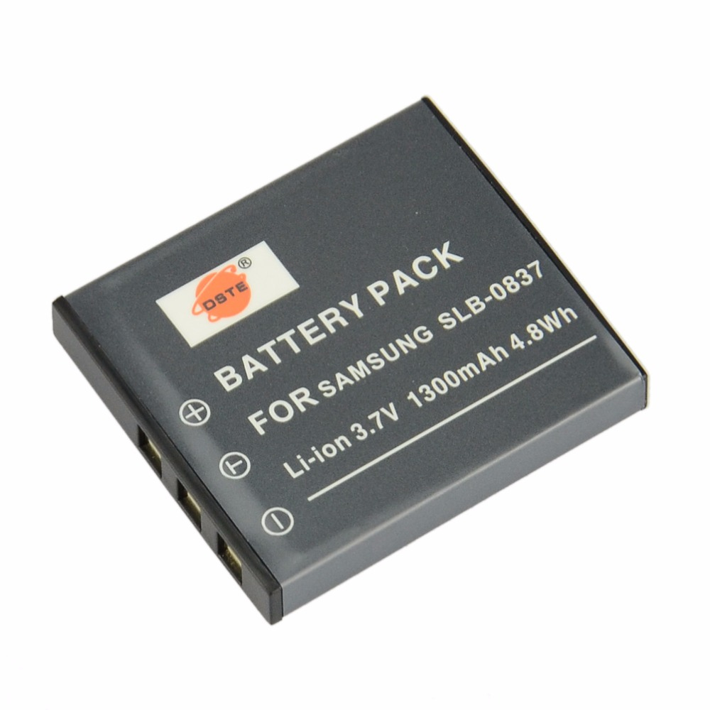 DSTE SLB-0837 Rechargeable <font><b>Battery</b></font> for <font><b>Samsung</b></font> Digimax #1 i5 i6 i50 i70 L50 L80 <font><b>L700</b></font> NV3 NV7 FinePix F402 Camera image