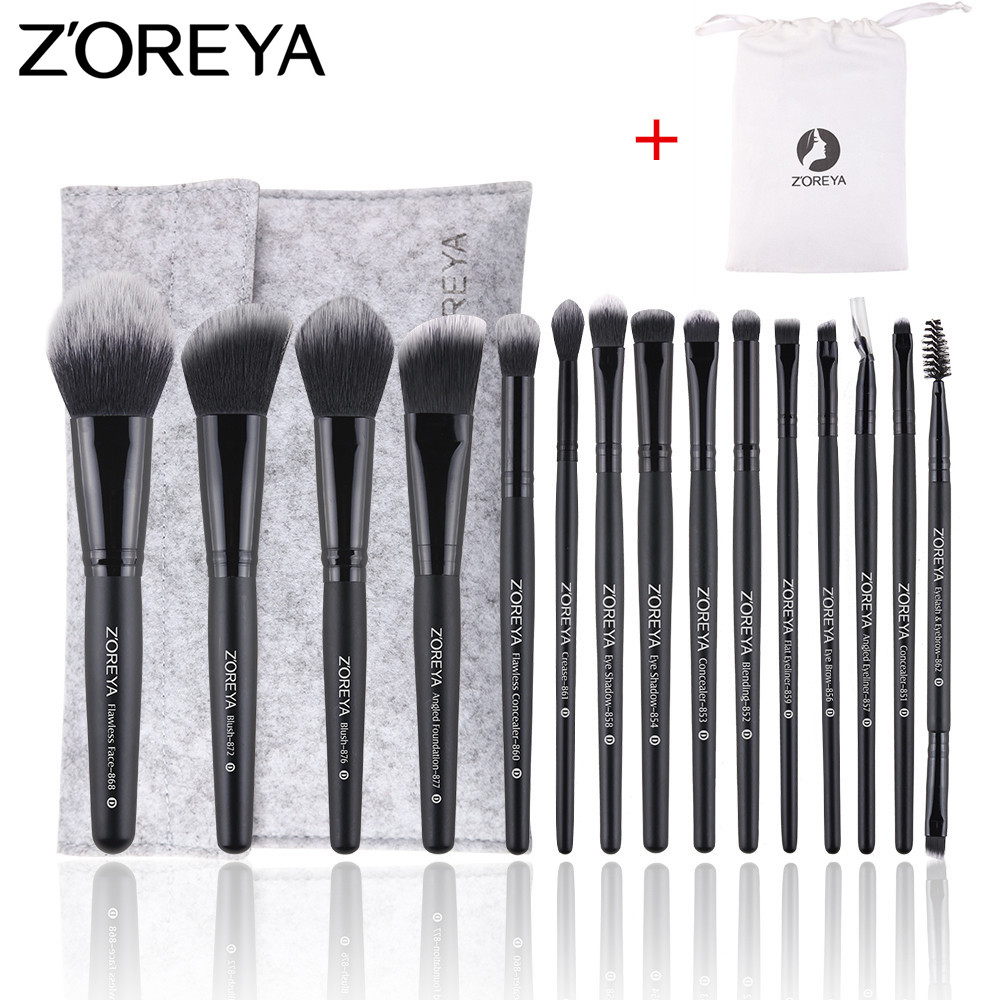 ZOREYA Make Up Brushes 9/11/15pcs Makeup Brush Set Powder Blush Foundation Eye Shadow Eyeliner Eyelash Blending Brush цена 2017