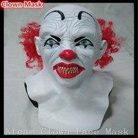 Bestnote Halloween Party Cosplay Lustige Halloween Latex scary clown maske mit rote haare Narr joker gesicht Maske Kostüm kleid spielzeug