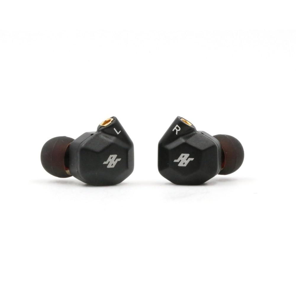 купить TENHZ K5 2BA+2DD Quad Driver In-Ear HIFI Earphone In-Ear Monitor with MMCX Detachable Cables Metal Earphones по цене 4981.5 рублей