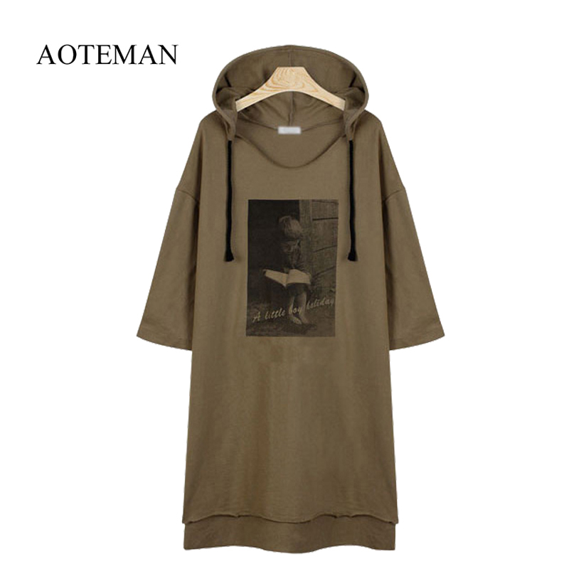 Aoteman Casual Autumn Winter Women Sweatshirt Print Floral Warm Loose Hoodies Sweatshirt Long Sleeve Bf Top Bts Plus Size 5xl