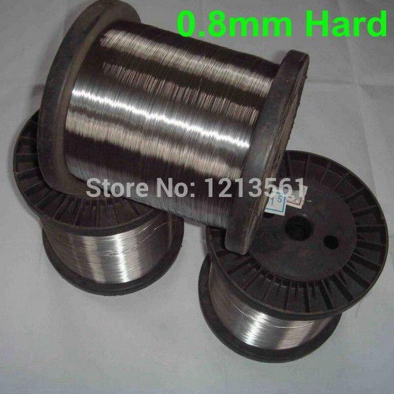 Harten Stahl Draht Edelstahl Draht Helle Oberfläche 0,8mm Durchmesser Kaltgewalzte Strukturelle Behinderungen Diy Material 316