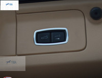 New For Porsce Panamera 2014 Macan Metal Rear Trunk Switch Frame Panel Cover Trim Modling Garnish