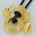 Etíope NUEVO Anillo de La Joyería conjuntos Collar Aretes de Oro Plateado Joyería de la Boda de África Novia Etiopía Habesha Regalo #042106