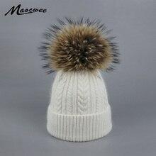Новинка; женские зимние шапки с помпонами; повседневные модные вязаные шапки; брендовая плотная женская шапка;