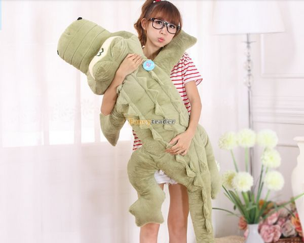 Fancytrader 2014 New Arrival 59'' / 150cm Super Giant Stuffed Cute Huge Alligator Toy, Great Gift, Free Shipping FT50080 fancytrader 79 lovely super soft giant stuffed jumbo dolphin plush toy 200cm 2 colors 2 sizes free shipping ft50142