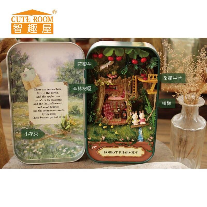 인형 집 DIY 미니어처 puppenhaus 3D 나무 퍼즐 miniaturas 가구 집 인형 생일 선물 완구 - 최우수 랩소디