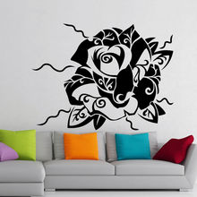 Rose Flower Wall Sticker Removable Flower Wall Decal Home Bedroom Decoration Rose Pattern Wall Art Mural Romance Decor AY714 цены