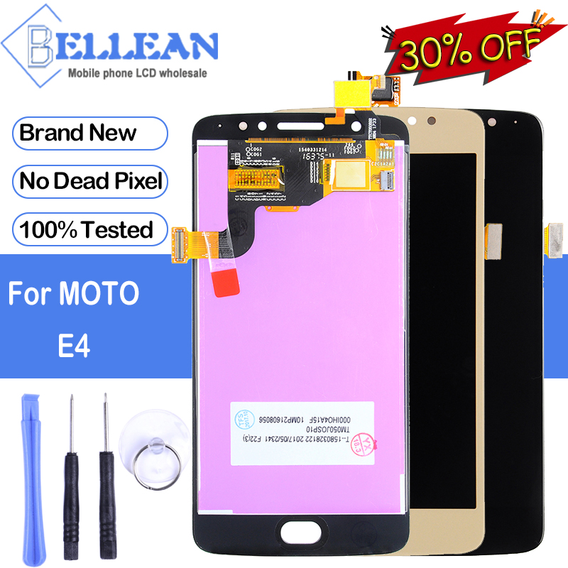 Dinamico For MotoRola E 4th Gen <font><b>XT1763</b></font> <font><b>Display</b></font> For <font><b>Moto</b></font> <font><b>E4</b></font> XT1767 LCD With Touch Screen Digitizer Assembly Free Shipping+Tools image