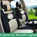 Personalizado tampa de assento do carro para renault laguna tampas de assento & suporta capas para bancos de automóveis conjunto completo tampa do carro sanduíche assentos protetor