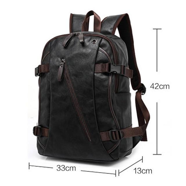 Men Oil Wax Leather Backpack Men's Casual Backpack & Travel Bags Western College Style Man Backpacks Mochila Zip Men Waterproof Kids & Baby Bags