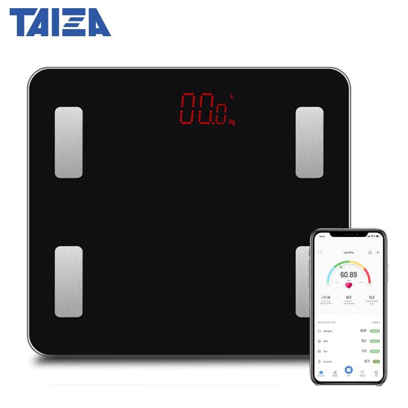 Original TAIZA Weighing Scales floor Smart Bluetooth Body Scale Weight Bathroom Smart Body Fat mi Timbangan Digital Human Weight|Bathroom Scales|Home & Garden - title=