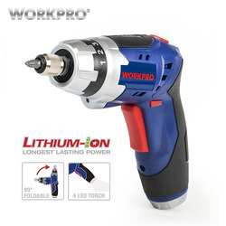 WORKPRO 3.6V Cordless Screwdriver Foldable Electric Screwdriver Rechargeable Screwdriver with Work Light
