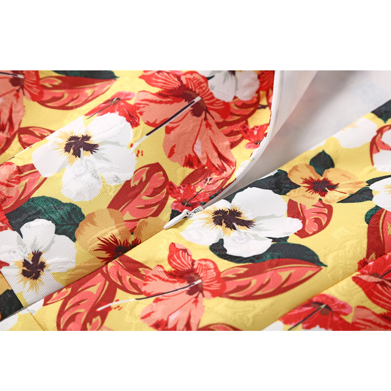 Abiti Marca 2018 Maniche Senza Xl Autunno Progettista Vestido Floreale Stampato Il Floral Colore Dress Plus Vestito Del Rg De Delle Di Festa Donne Elegante Gradiente Size ZqA677