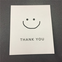 Custom 9*11cm Thank You Card White Paper Tag