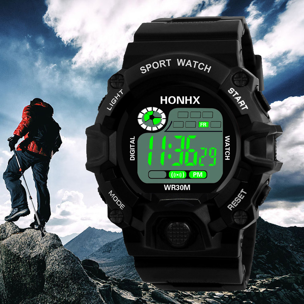 Fashion Digital Watch Men's Military Waterproof Sports Watches Silicone LED Digital Watch Men Wristwatches Clock Male