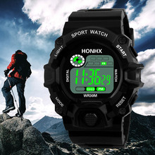 Fashion Digital Watch Men's Military Waterproof Sports Watches Silicone LED Digital Watch Men Wristwatches Clock Male(China)