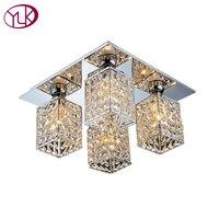 High Quality Square Design Living Room Modern Crystal Chandelier Bedroom Study LED Lustres De Cristal Home