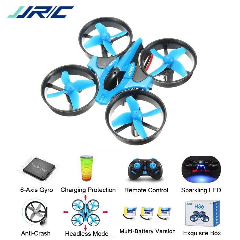 JJR/C JJRC H36 Mini Quadcopter 2.4g 4CH 6-Velocidade Do Eixo 3D Flip Headless Modo RC Zangão presente Toy Presente RTF VS Eachine E010 H8 Mini