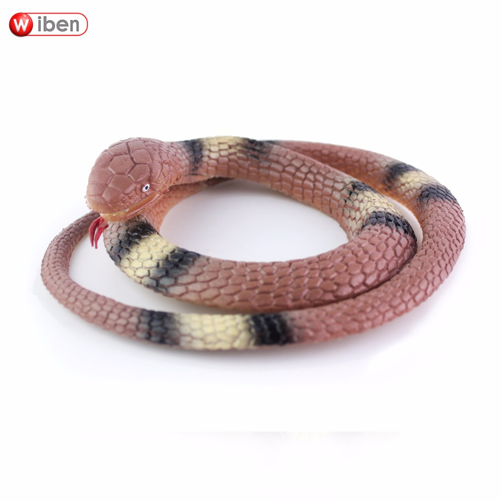 Wiben Halloween Realistic Soft Rubber Snake Fake Animal Model Garden Props Joke Prank Gift Gags & Practical Jokes ...