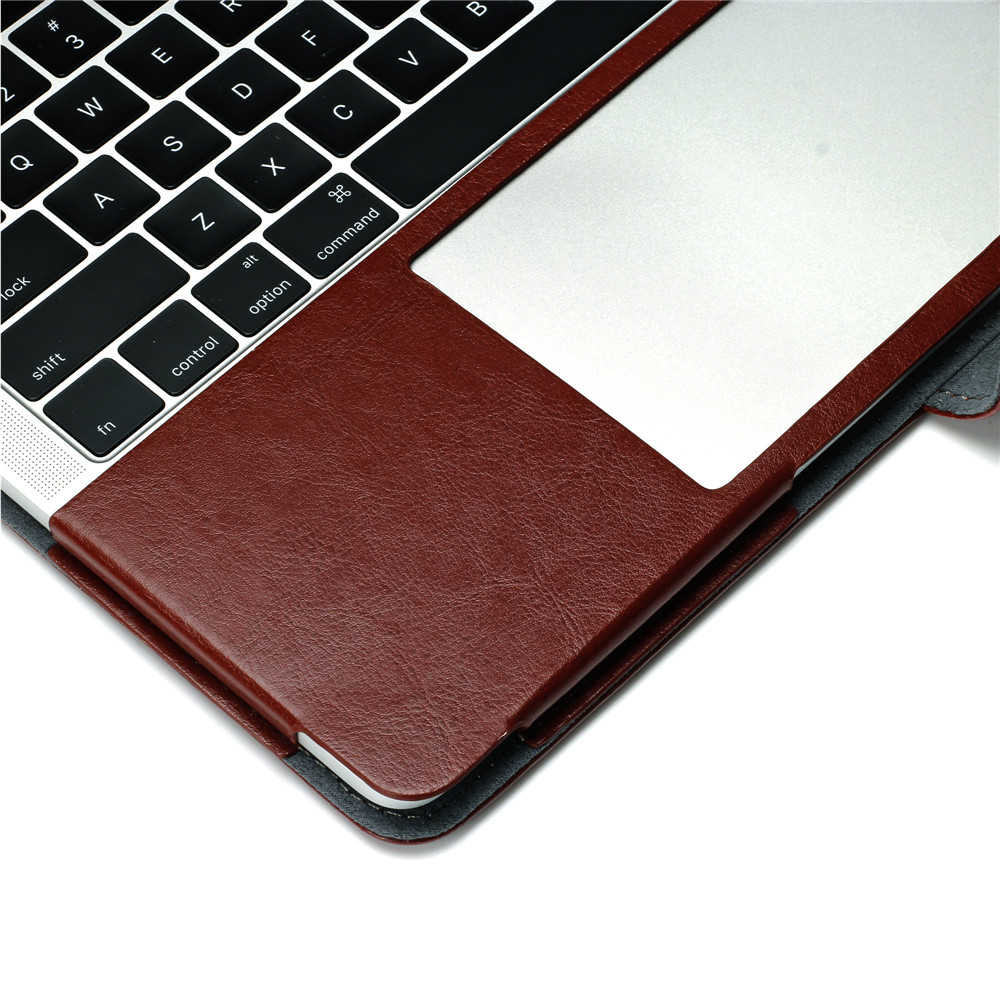 Redlai Ordinateur Portable étui pour Macbook Air Pro Retina 11 12 13 15 Manchon En Cuir PU Pour Le Nouveau Macbook Pro 13 15 avec barre Tactile A1989 A1990