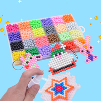 24 colors Aqua Beads Puzzle Choice 5mm Aquabeads Beads Magic Water Beads Puzzles Toy Educational Kids Toy Puzzle Games