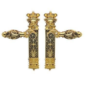 85mm CENTRAL DISTANCE HOLLOW SPLIT ZINC DOOR HANDLE LOCK---ITALY DESIGN--GP FINISH
