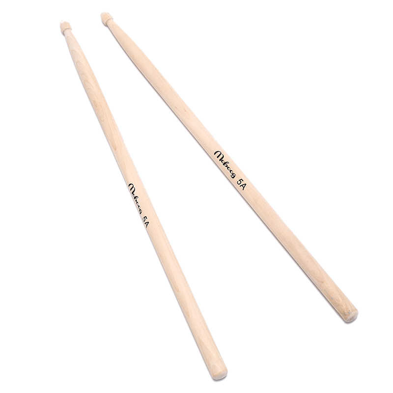Maple 5A Size Maple Wood Drumsticks Stick for Drum Lightweight wood color drum sticks musical aparts 1 Pair