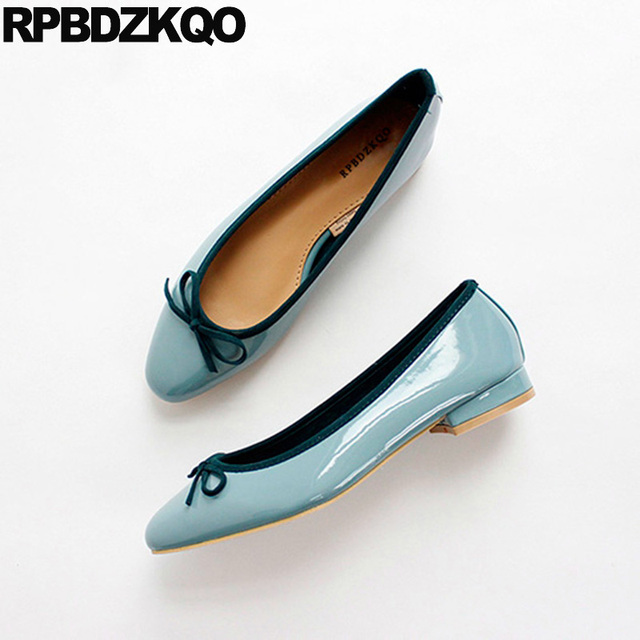 c96010401 Round Toe Peacock Shoes Soft Ballet Flats Women Candy Patent Leather China Designer  Ballerina Cute Bowtie