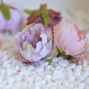 Image 4 - 2 pieces DIY Retro silk Artificial flowers European Peony bud flower heads for Wedding Garland D25