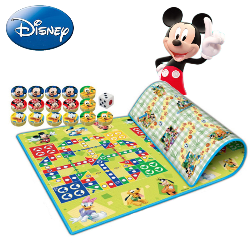 Disney Baby Play Carpet Mat Toy Kid Crawling Blanket Flying Chess Child Educational Parent-Child Thicker Game Portable 160*120cm 120cm play mat baby blanket inflant game play mats carpet child toy climb mat indoor developing rug crawling rug carpet blanket