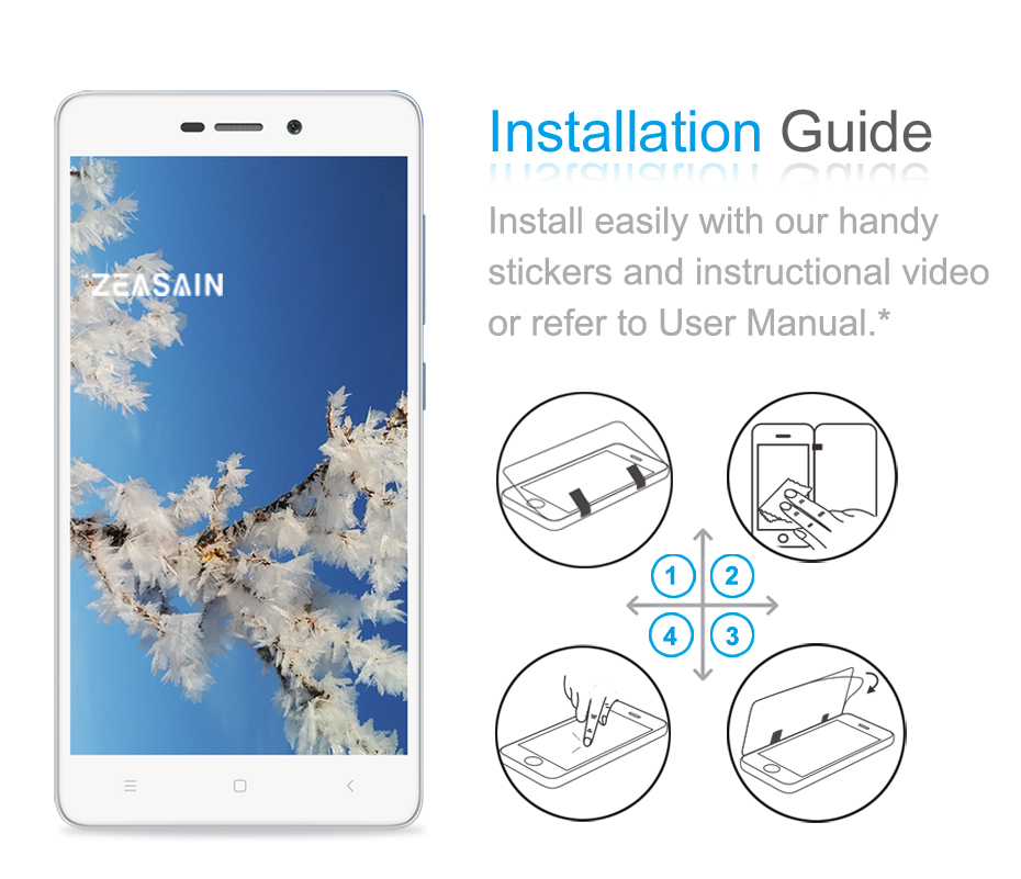 [2 Pack] Original ZEASAIN Premium Tempered Glass Screen Protector For - Բջջային հեռախոսի պարագաներ և պահեստամասեր - Լուսանկար 6