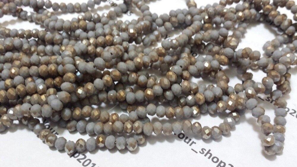 STENYA 4*3 мм Хрустальные чешские бусины Rondelle граненые ювелирные изделия разделитель для серег браслет Лариат Ожерелье Аксессуары