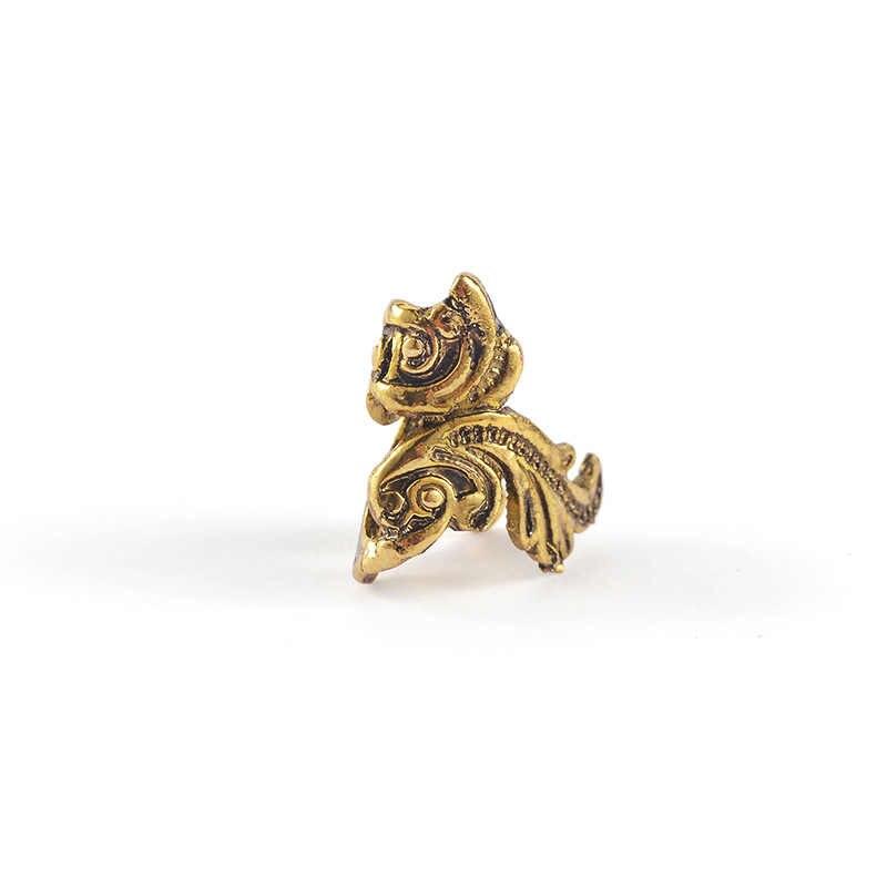 1 pc 女性ヴィンテージパンク · メタル耳カフラップ金魚耳クリップシルバーゴールドカラーピアスジュエリー
