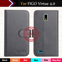 Hot!!In Stock FIGO Virtue 4 0 Case 6 Colors Luxury Ultra-thin Leather Exclusive For Phone Cover+Tracking