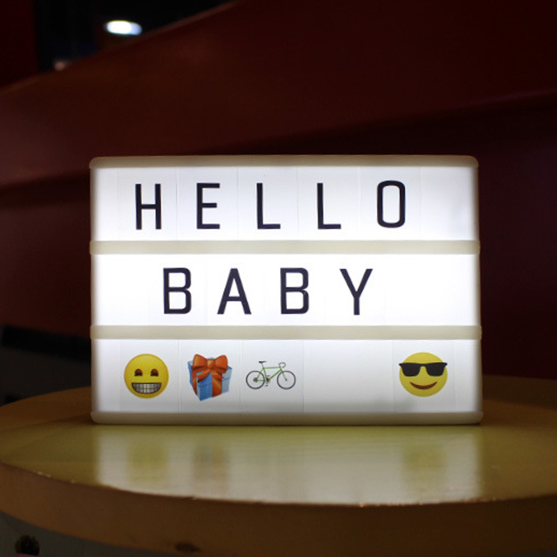 A6 Lightbox Light Letters Combination Cinematic Light Box Card LED Lamp Luminous Box DIY Symbols NumbersA6 Lightbox Light Letters Combination Cinematic Light Box Card LED Lamp Luminous Box DIY Symbols Numbers