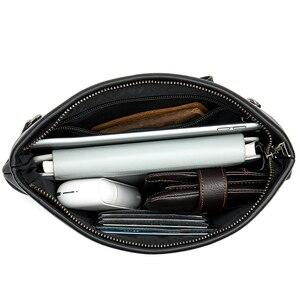 Image 2 - ويستال جلد طبيعي الأعمال رسول النساء الرجال حقيبة حقيبة ل وثيقة حقيبة يد الذكور الإناث محمول موجز حافظة A4