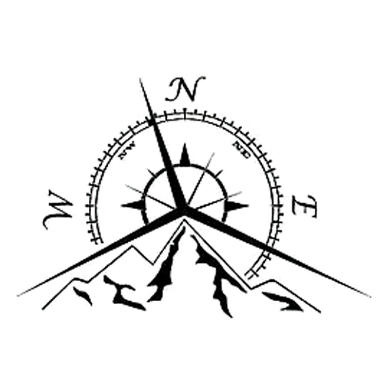 13.7 см*9.4 см NSWE мода горы компаса наклейка морской Компас навигации автомобиля стикер С6-3534
