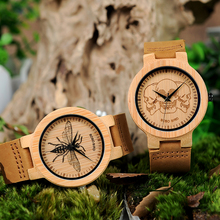 BOBO BIRD P20 Bamboo Wood Watches Men with Image Printing 2018 New Arrivals Images Optional Casual Clock