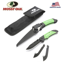 MOSSY OAK 2PC Folding Knife and Saw Outdoor Camping Tool Set Emergency Gear