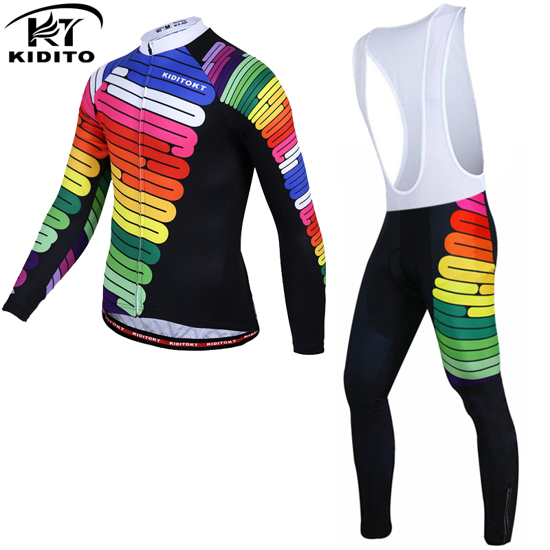 KIDITOKT Long Sleeve Winter Cycling Clothing MTB Bicycle Wear Maillot Ropa Ciclismo Invierno Thermal Fleece Bike Jersey For Man black thermal fleece cycling clothing winter fleece long adequate quality cycling jersey bicycle clothing cc5081