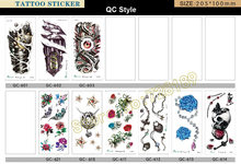 Beautiful Waterproof Temporary Tattoos For Couples 3d Cross Lock Design Large Arm Tattoo Sticker