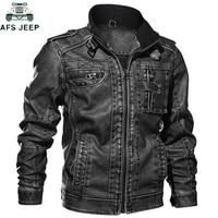 Plus Size 6XL 7XL Men's PU Jacket Leather Jacket Coat Autumn Winter Slim Fit Faux Leather Motorcycle Jackets Male jaqueta couro