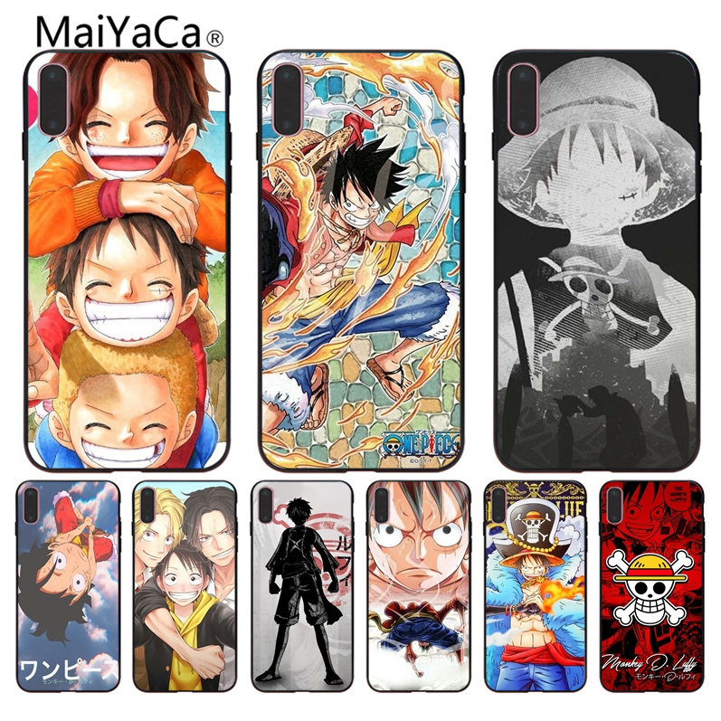 MaiYaCa Japanese anime One piece Monkey D Coque Shell Phone Case For Apple iPhone X 8 8plus 7 7plus 6 6s Cover custom phone case