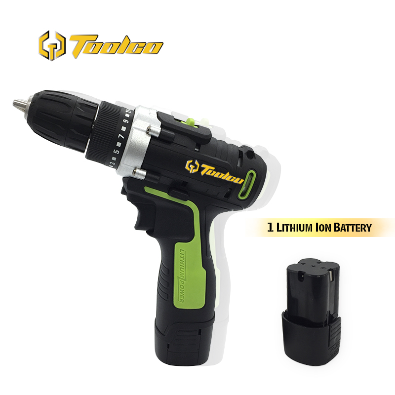 Toolgo Electric Cordless Drill Screwdriver 20N.m Mini Wireless Power Driver DC Lithium-Ion Battery 10mm 2-Speed Electric Drill